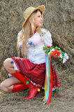 Ukrainian teenage girl in traditional clothes Royalty Free Stock Photo