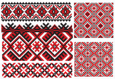Ukrainian texture embroidery pattern Royalty Free Stock Images