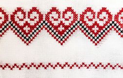 Ukrainian towel embroidered with a cross