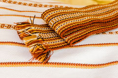 Ukrainian towels embroidered Stock Photography