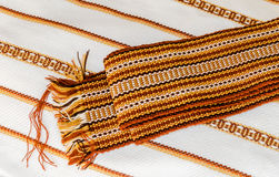 Ukrainian towels embroidered Royalty Free Stock Photos