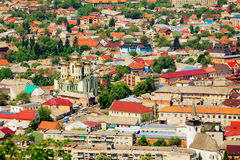 Ukrainian town with the church Royalty Free Stock Photo