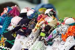 Ukrainian traditional dolls motanka on a fair Royalty Free Stock Photos