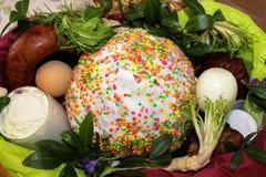 Ukrainian Traditional Easter Basket. stock photos