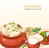 Ukrainian traditional food background Stock Image