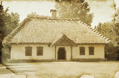 Ukrainian traditional house in vintage style Stock Photo