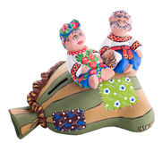Free Ukrainian Traditional Pottery Ceramics With Text Royalty Free Stock Photos - 13224428