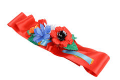 Ukrainian traditional red strap Royalty Free Stock Photos
