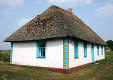 Ukrainian traditional rural house Royalty Free Stock Image