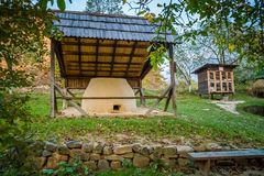 Ukrainian traditional village buildings at autumn. Ukrainian traditional village buildings at autumn Stock Images
