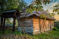 Ukrainian traditional village buildings at autumn. Ukrainian traditional village buildings at autumn Royalty Free Stock Photos