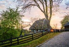 Ukrainian traditional village house at autumn. Ukrainian traditional village house at autumn Stock Photos
