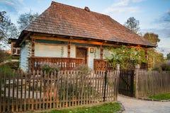 Ukrainian traditional village house at autumn. Ukrainian traditional village house at autumn Royalty Free Stock Photography