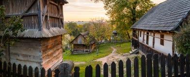 Ukrainian traditional village houses at autumn. Ukrainian traditional village houses at autumn Stock Image