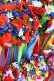 Ukrainian traditional wreaths palette. Royalty Free Stock Photo