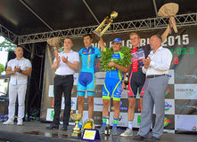 Ukrainian triumphed in the Black Sea Tour Stock Photos