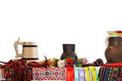 Ukrainian utensils Royalty Free Stock Photo