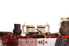 Ukrainian utensils Stock Photos