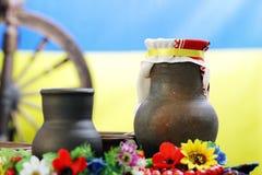 Ukrainian utensils Stock Images