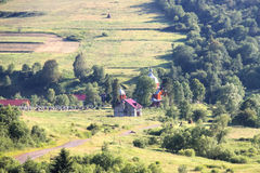 Ukrainian village in the Carpathian Mountains Royalty Free Stock Image
