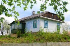 Ukrainian village house Royalty Free Stock Images