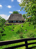 Ukrainian village hut Stock Photo