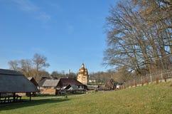 Ukrainian village in the legendary Kholodny Yar Royalty Free Stock Images