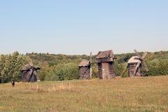Ukrainian village mill stock photo
