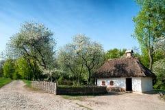 Ukrainian village in the spring. In Pirogovo near Kiev Royalty Free Stock Photography