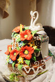 Ukrainian wedding bread. Traditional symbol on wedding Stock Photos
