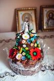 Ukrainian wedding bread. Traditional wedding symbol. Wedding day Royalty Free Stock Image