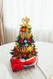 Ukrainian wedding bread. Traditional wedding symbol. Two swans on top Royalty Free Stock Photos