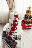 Ukrainian wedding bread. Traditional wedding symbol. Two swans on top Stock Photography