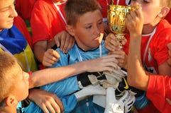 Ukrainian winner soccer stock image