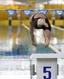 Ukrainian winter swimming championship Stock Images