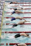 Ukrainian winter swimming championship Stock Images