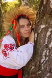Ukrainian woman. Is in national clothes Royalty Free Stock Photo
