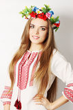 Ukrainian woman in a wreath Stock Image