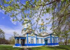 Ukrainian wooden church built in 1905. Rosishky village Stock Photos