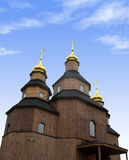Ukrainian wooden church Royalty Free Stock Image