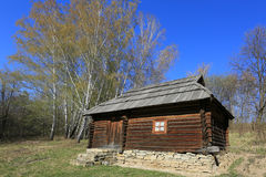 Ukrainian wooden house in open-air museum Pirogovo. Kiev, Ukrain Royalty Free Stock Images