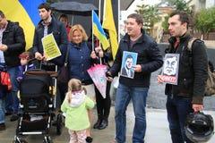 Ukrainians in Cyprus show solidarity Stock Photo