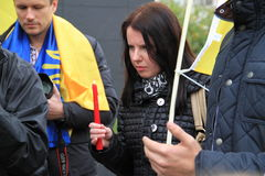 Ukrainians in Cyprus show solidarity Royalty Free Stock Photography