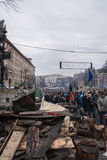 Ukrainians at Euromaidan in Kiev Stock Photography