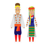 Ukrainians national dress Royalty Free Stock Photos