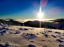 Ukrainien Carpathiens d'hiver Photographie stock