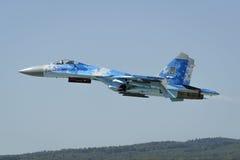 Ukrainien Sukhoi Su-27 Flanker Photos libres de droits