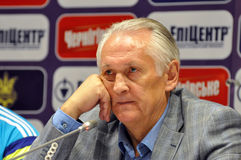 Ukraininan national team coach Mykhailo Fomenko Stock Photography