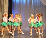 Ukrainische der Tanz-Polka der Kinder Stockbild