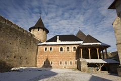 Ukrainische Festung Hotyn Lizenzfreie Stockbilder